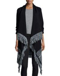 Townsen - Ukraine Fringe-trim Wrap Sweater - Lyst