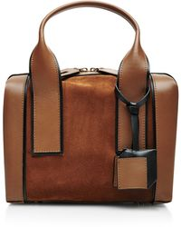 Pierre Hardy Leather And Suede Tote - Lyst