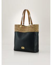 Ralph Lauren Cork-Effect Tote Bag black - Lyst