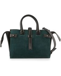CoSTUME NATIONAL - Suede & Leather Tote Bag - Lyst