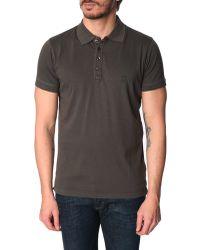 Diesel Alex Pale Grey Polo Shirt - Lyst