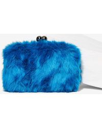 Nila Anthony - Cookie Monster Faux Fur Clutch - Lyst