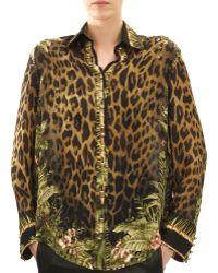 Balmain Long-sleeve Leopard  Jungle Print Blouse - Lyst