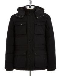 Calvin Klein Puffed Car Coat black - Lyst