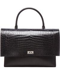 Givenchy Large Shark Lock Stamped Croc Bag - Lyst