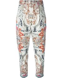 Versace Printed Trousers - Lyst