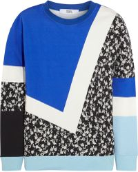 Prabal Gurung - Printed Cotton-fleece Sweatshirt - Lyst