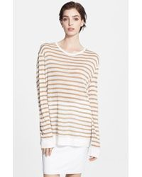 T By Alexander Wang Lightweight Stripe Sweater - Lyst