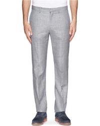 Theory - Jake Wool-linen Slim-fit Trousers - Lyst