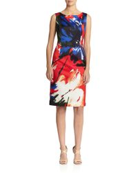 Lafayette 148 New York Faith Floral-Print Shift Dress - Lyst