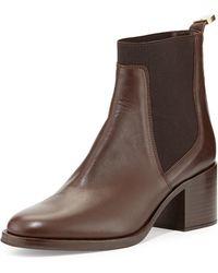 Delman - Corie Leather Chelsea Boot - Lyst