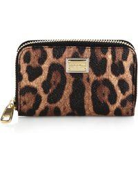 Dolce & Gabbana Leopard Crespo Wallet - Lyst