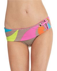 Trina Turk Pop Wave Banded Hipster Swim Bottoms - Lyst