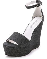 Jeffrey Campbell Amya Wedge Sandals - Black - Lyst