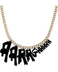 Tatty Devine Aarrghhhh Necklace - For Women - Lyst