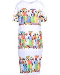 Stella Jean 3/4 Length Dress - Lyst