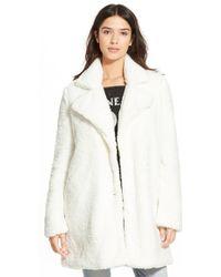 RVCA - 'warm Me Up' Plush Fleece Jacket - Lyst