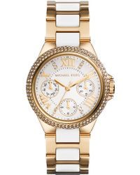 Michael Kors Mk5945 Camille Gold-Plated Watch - For Women - Lyst