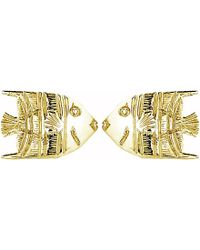 Theo Fennell - 18ct Yellow-gold Angel Fish Stud Earrings - Lyst