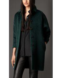 Burberry Alpaca Wool Overcoat - Lyst