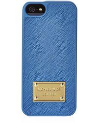 MICHAEL Michael Kors Leather Iphone 5/5S Case - Lyst