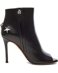 Givenchy Peep Toe Bootie with Silver Star Detail - Lyst