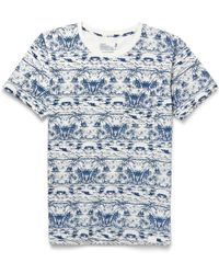White Mountaineering Printed Cotton T-Shirt blue - Lyst