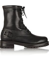 Dolce & Gabbana Leather Biker Boots - Lyst