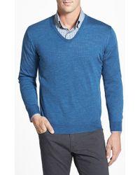 Robert Talbott V-Neck Merino Wool & Silk Sweater - Lyst