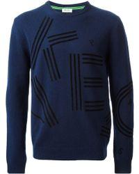 Kenzo Logo Knit Sweater - Lyst