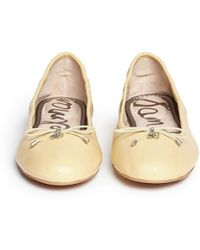 Sam Edelman 'Felicia' Leather Ballerina Flats beige - Lyst