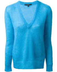 Gucci Blue V-neck Sweater - Lyst