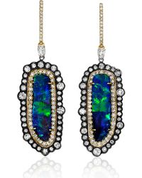 Kimberly Mcdonald - Boulder Opal & Mixed Diamond Earrings - Lyst