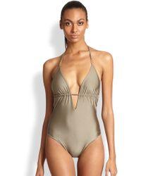 678ccb584e74a3 Lyst - Elizabeth Hurley Swimwear