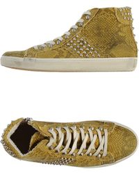 Leather Crown High-Tops & Trainers - Lyst