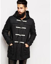 Asos Wool Duffle Coat - Lyst