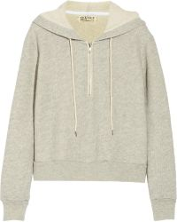 Textile Elizabeth And James Hooded Cotton-blend Terry Sweatshirt - Lyst