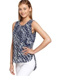 Calvin Klein Jeans Sleeveless Printed Tank Top - Lyst
