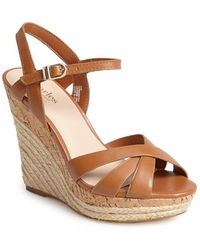 Charles by Charles David 'Astro' Espadrille Sandal brown - Lyst