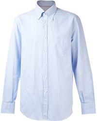 Brunello Cucinelli Gingham Button Down Shirt - Lyst