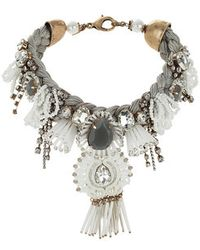 Topshop Premium Pearl And Stone Choker - Lyst