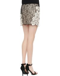 Gryphon - Fitted Lace Miniskirt - Lyst