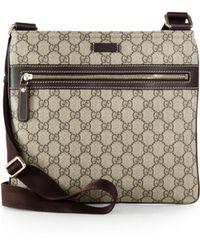 Gucci Joy Gg Supreme Flat Messenger Bag - Lyst