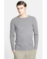 Helmut Lang Men'S 'Compact Grid' Cotton & Cashmere Sweater - Lyst
