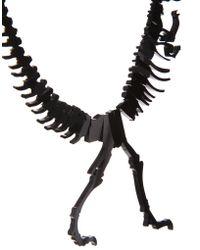 Tatty Devine Black Dinosaur Necklace - Lyst