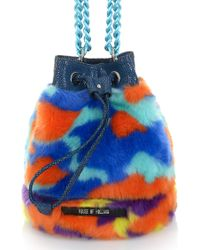 House Of Holland Mini Bucket Camo Faux Fur - Lyst