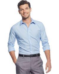 Calvin Klein Basic Fashion Shirt blue - Lyst