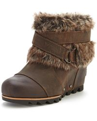 Sorel Joan Of Arctic Wedge Ankle Boots - Lyst