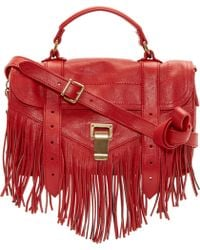 Proenza Schouler Mandarine Red Luxe Leather Tiny Ps1 Satchel - Lyst