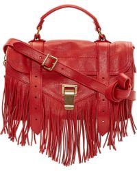 Proenza Schouler Mandarine Red Luxe Leather Tiny Ps1 Satchel - Lyst